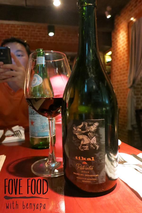 ไวน์แดงตัวนี้เราสั่งมากินคู่กับ Steak :)