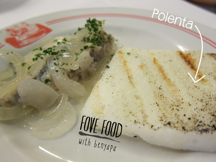 Polenta สีขาวที่ Burano