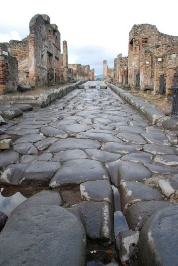Original road, Pompeii Italy.