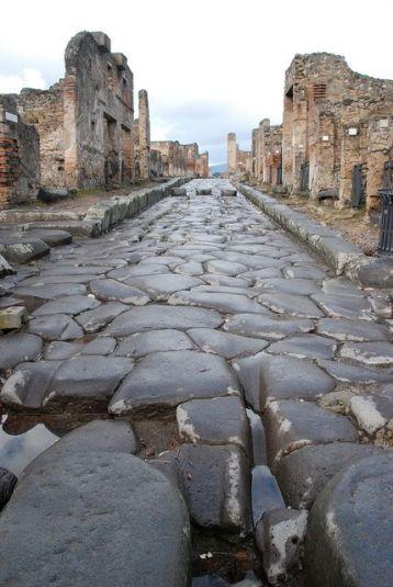 Original road, Pompeii Italy.